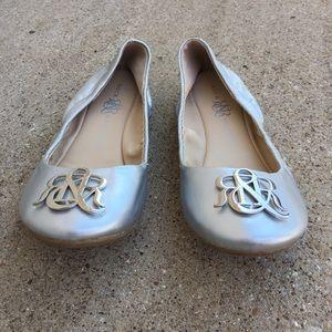 Rock & Republic Silver Ballet Flats